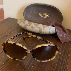 Leopard coach sunglasses